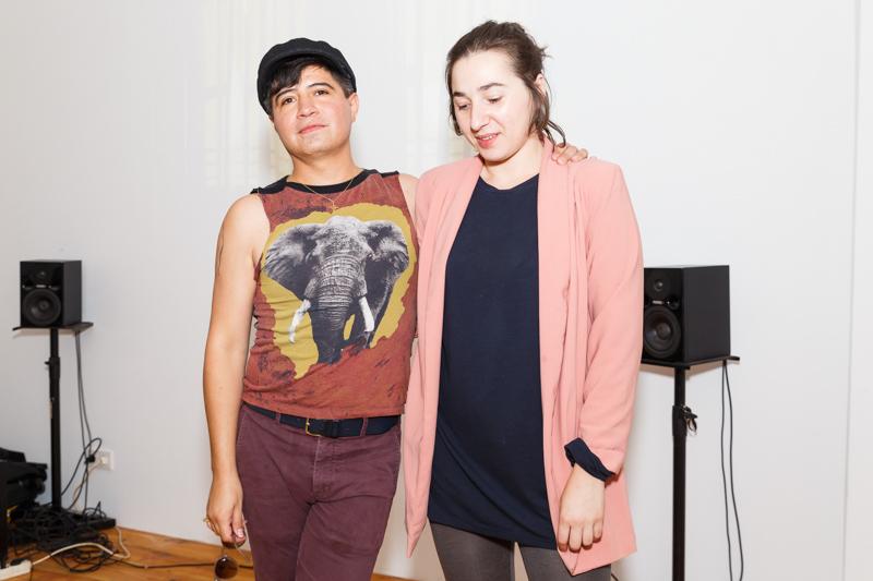 """Niko Solorio and Rebecca Salvadori in Dialogue"" bei Santa Lucia im Rahmen des Project Space Festivals Berlin"